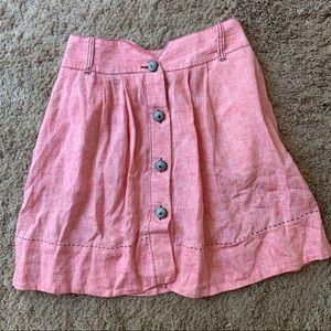Boss Hugo red linen skirt size 6